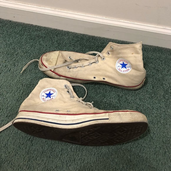 Vintage 80s converse made in USA 12 men high top